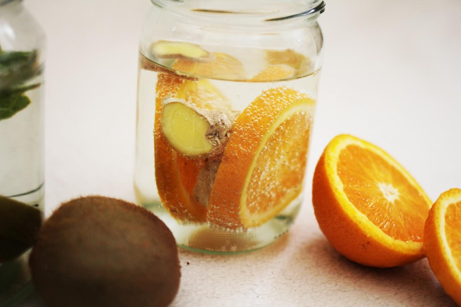 ingwer kiwi fruit water