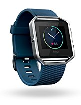 Fitbit Blaze Smart Fitness Watch, Blue, Silver, Small