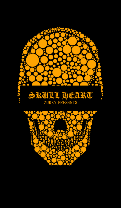 SKULLHEART2 POLKA Dot ORANGE