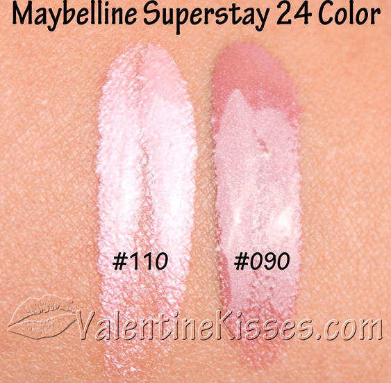 Valentine Kisses: Maybelline Superstay 24 Hour Lipcolor
