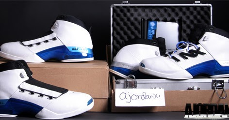 ajordanxi Your  1 Source For Sneaker Release Dates  Air Jordan XVII White College  Blue-Black (2002) c6e43d3aa