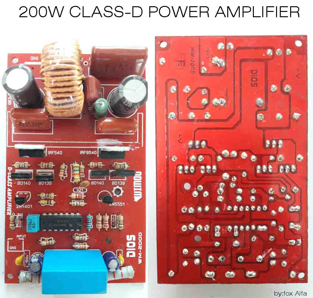 200w class d power amplifier irf540 irf9540 electronic single 4 channel amp wiring diagram