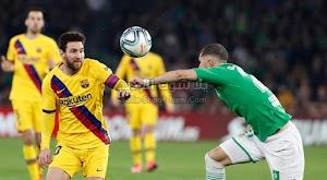 برشلونة يقلب الطاوله علي فريق ريال بيتيس ويواصل الضغط على ريال مدريد في الدوري الاسباني