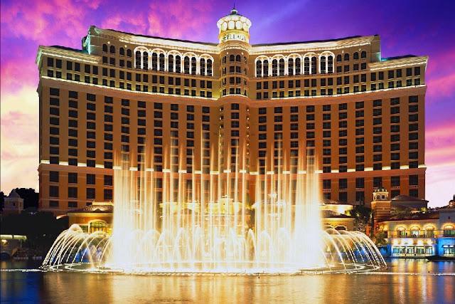 Show de fontes do Hotel Bellagio em Las Vegas