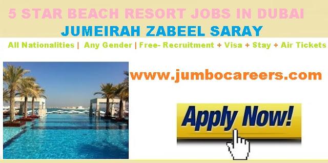 Dubai hotel jobs for Indian, hotel jobs in Dubai with salary, Dubai hotel job free visa ,