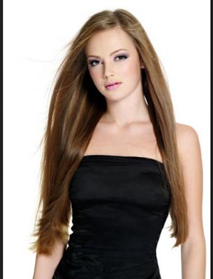 gambar model rambut segi panjang yang menawan