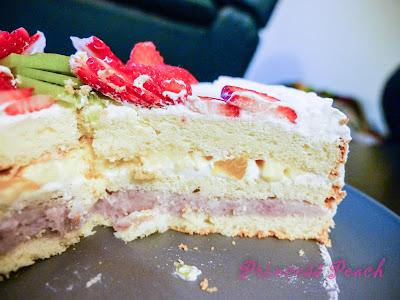 芋頭鮮奶油水果蛋糕