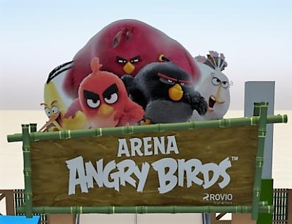 Arena Angry Birds anima as férias no Iguatemi Alphaville