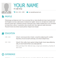 resume template 2 click to download - Acting Resume Template For Microsoft Word