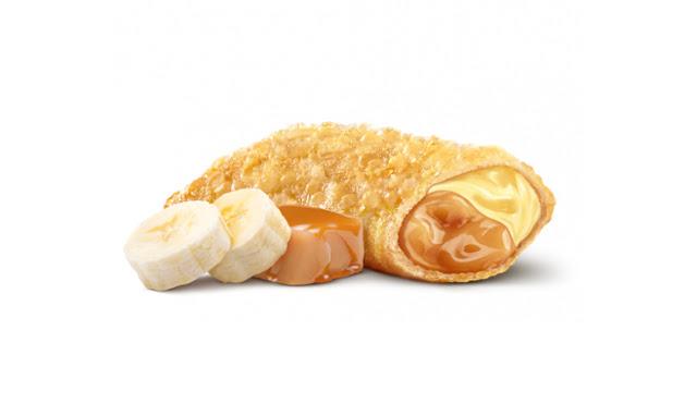 Новый пирожок «Банан-карамель» в Бургер Кинг, Новый пирожок «Банан-карамель» в Burger King, Новый пирожок «Банан-карамель» банановый и карамельный в Бургер Кинг состав цена пищевая ценность вес Россия 2018