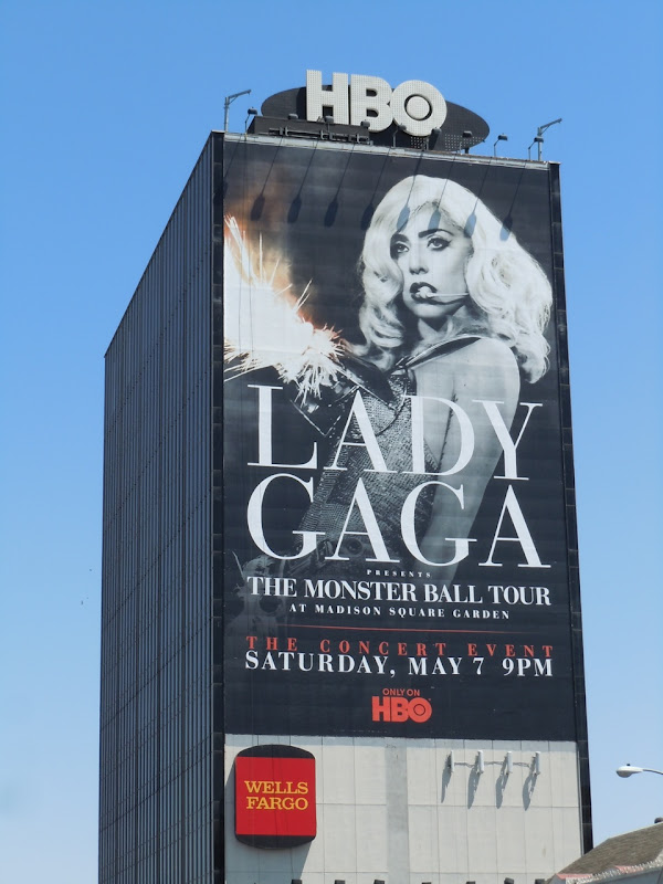 Giant Lady Gaga billboard