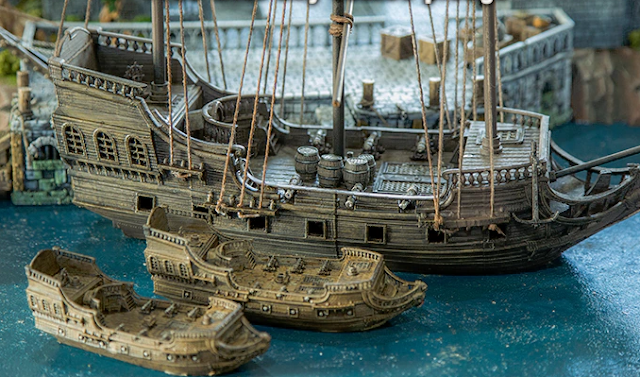Miniature Wargame Pirate Ship - 3D Printable Frigate Model