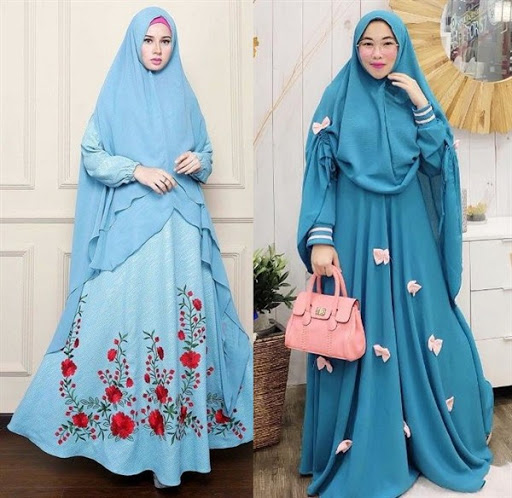Model Baju Muslim Syar'i Elegan Modis Terbaru 2017/2018