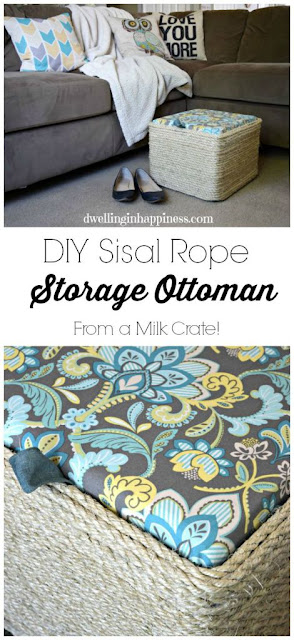 http://www.dwellinginhappiness.com/diy-sisal-rope-ottoman-from-a-milk-crate/