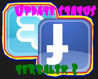 Gambar Membuat Update Status Terbalik Menggunakan Flip Text