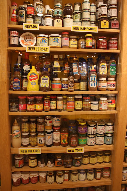 Collection of New Jersey mustards at the National Mustard Museum in Middleton, Wisconsin