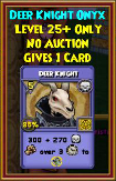 Deer Knight - Wizard101 Card-Giving Jewel Guide
