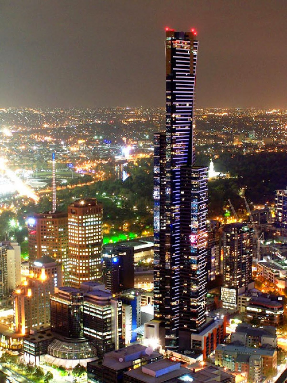 Rialto Towers with Eureka Tower Melbourne, Australia 10 Beautiful Cities in Australia