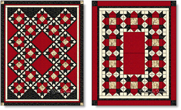 Quilts designed using the WEATHERVANE quilt block - images © Wendy Russell