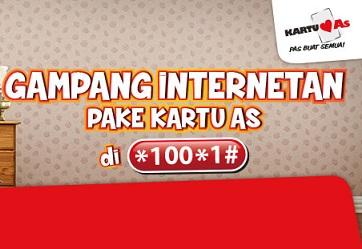 Paket Kartu AS Gampang Internetan Mulai Rp 1500 Seharian