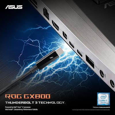 Kecepatan Kirim Data ASUS ROG GX800 = 40GB per Detik