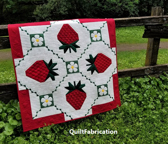 Strawberry Splendor by QuiltFabrication