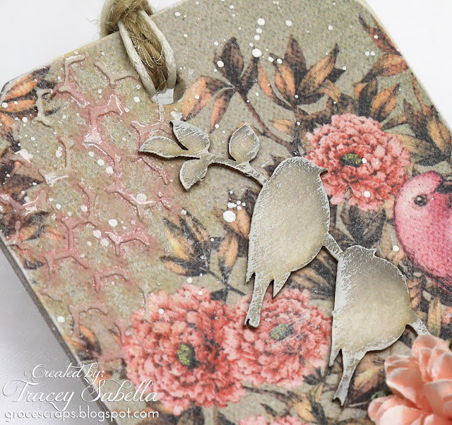 ScrapBerry's Birds of Paradise Mixed Media Tags