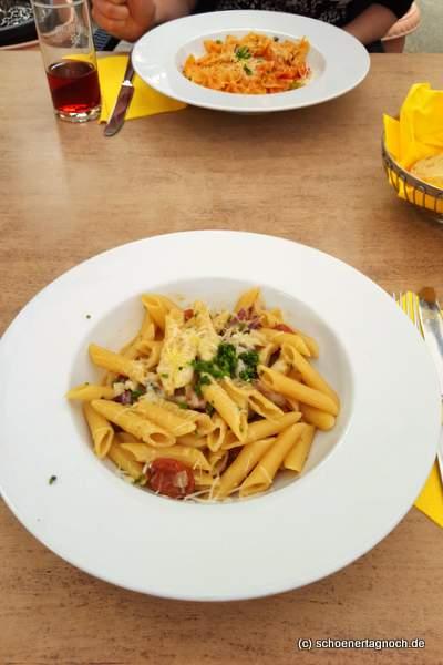 Penne mit Chorizo und Radicchio im Mediterrane in Karlsruhe