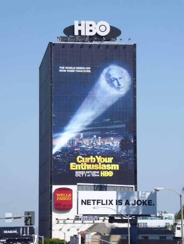 Giant Curb Your Enthusiasm season 9 billboard