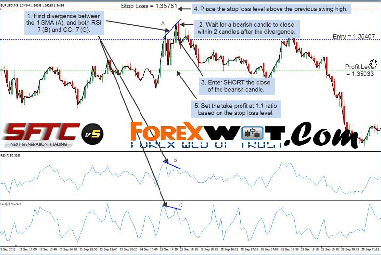 5 Minute Chart Surefire RSI-CCI Forex Trading System and