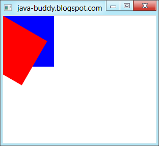 JavaFX 2: Apply transform of rotate