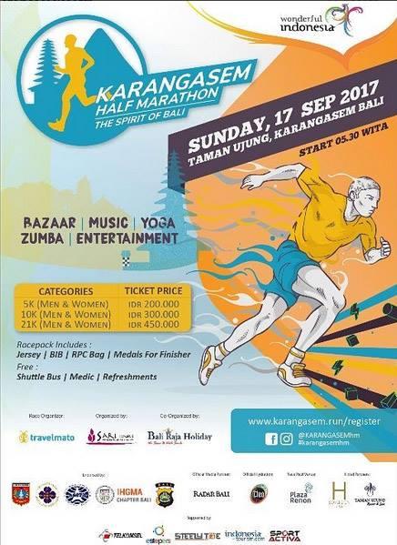 Karangasem Half Marathon • 2017 Poster