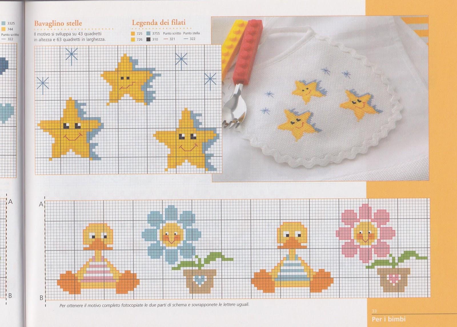 Grande raccolta di schemi e grafici per punto croce free for Schemi punto croce per bavaglini