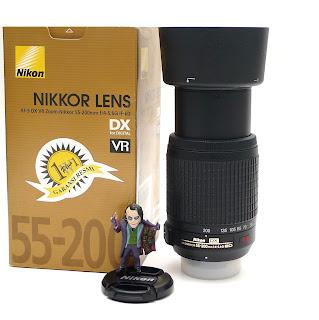 Lensa Nikon 55-200 VR Fullset