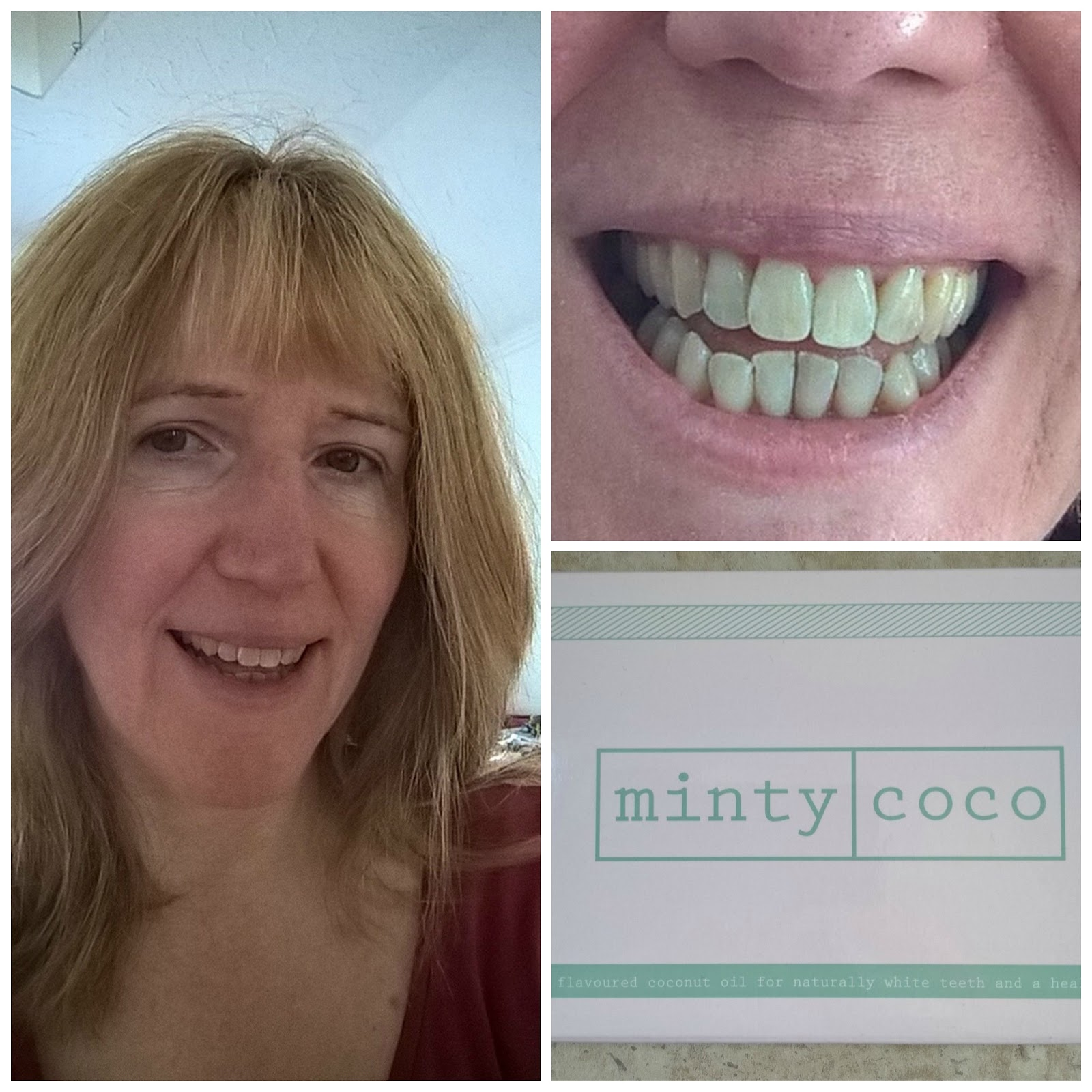 Linda Hobbis about to try Minty Coco Oil Pulling Sachets - review - motherdistracted.co.uk