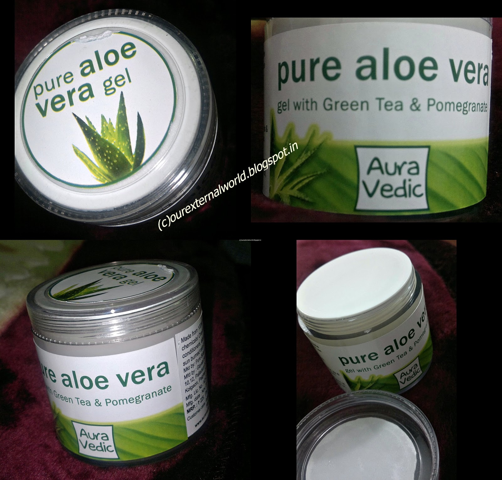 aura vedic 39 s pure aloe vera gel review. Black Bedroom Furniture Sets. Home Design Ideas