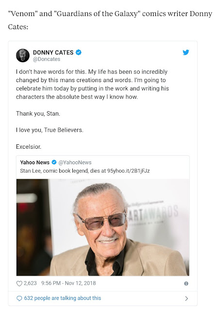 Stan Lee's death - Celebrities react to Marvel creator