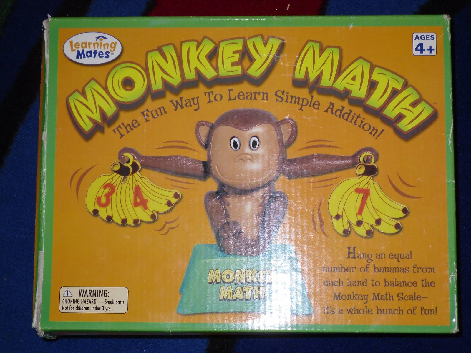 Kindergarten Night Owls Monkey Math Work