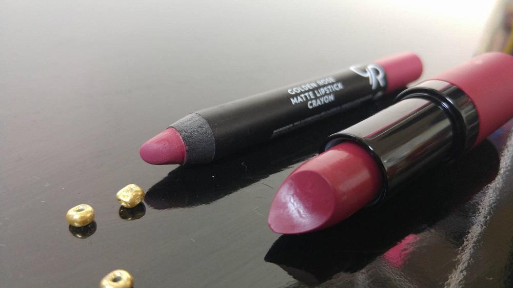 Golden Rose Matte Lipstick Crayon 19 & Velvet Matte Lipstick 32, Matte Lipstick Crayon, Velvet Matte Lipstick, Longstay Liquid Matte Lipstick Kissproof