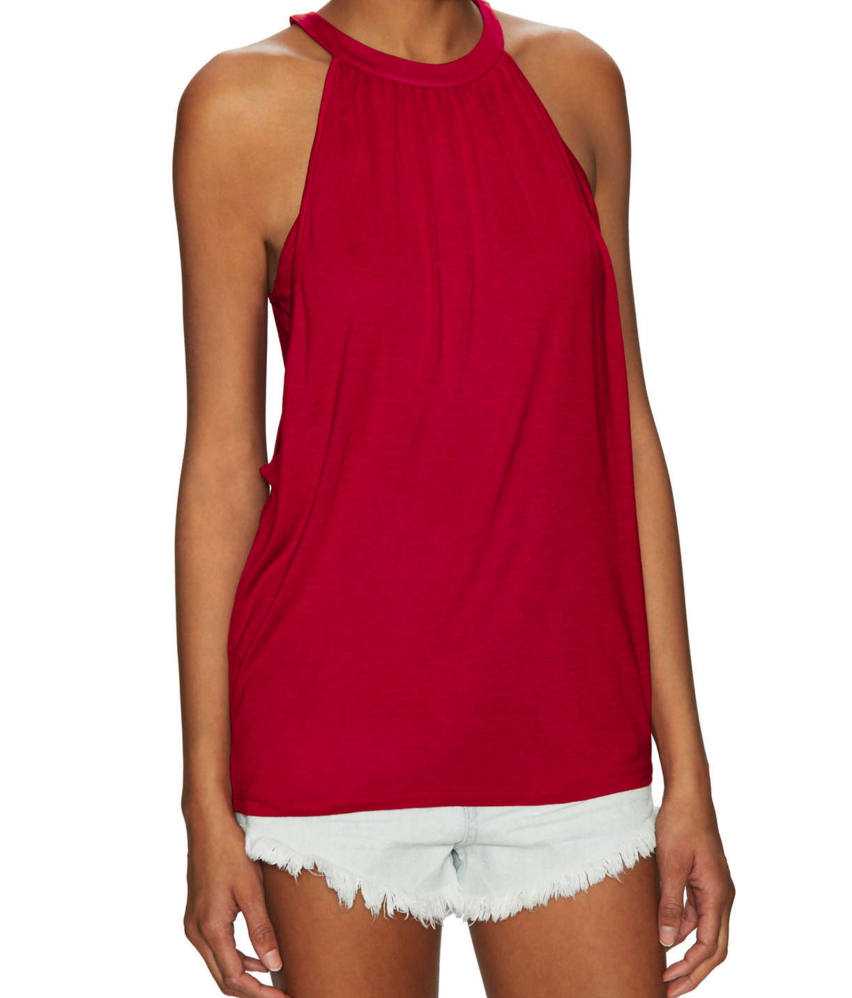 My Superficial Endeavors Bella Luxx Shirred Double Layer Tank