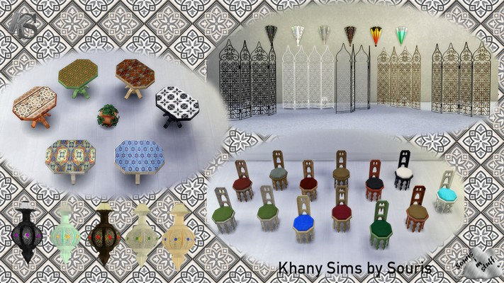 My Sims 4 Blog Morocco Dining Set By Souris
