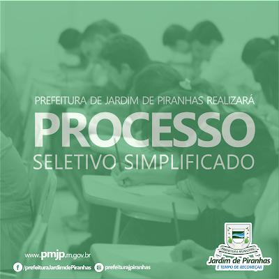 Resultado de imagem para PREFEITURA DE JARDIM DE PIRANHAS – RN DIVULGA PROCESSO SELETIVO COM VÁRIAS OPORTUNIDADES