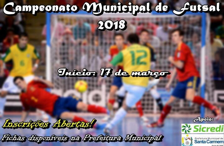 0a4d4cc073be7 Campeonato Municipal de Futsal Começa Sábado em Santa Carmem - Na ...