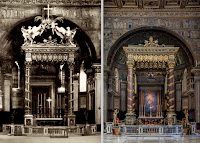 The Visual and Symbolic Impact of the Spacing and Proportions of the Candlesticks and Cross as Seen in Two Papal Basilicas