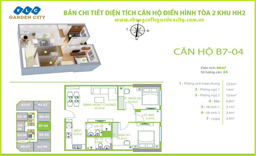 thiet ke can ho B8 chung cu flc garden city