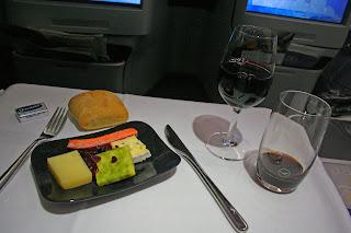 Business Class nachtisch aboard Lufthansa A330