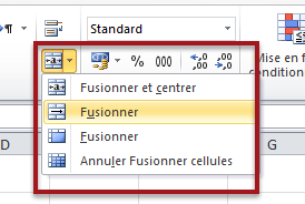 Options de fusionnement