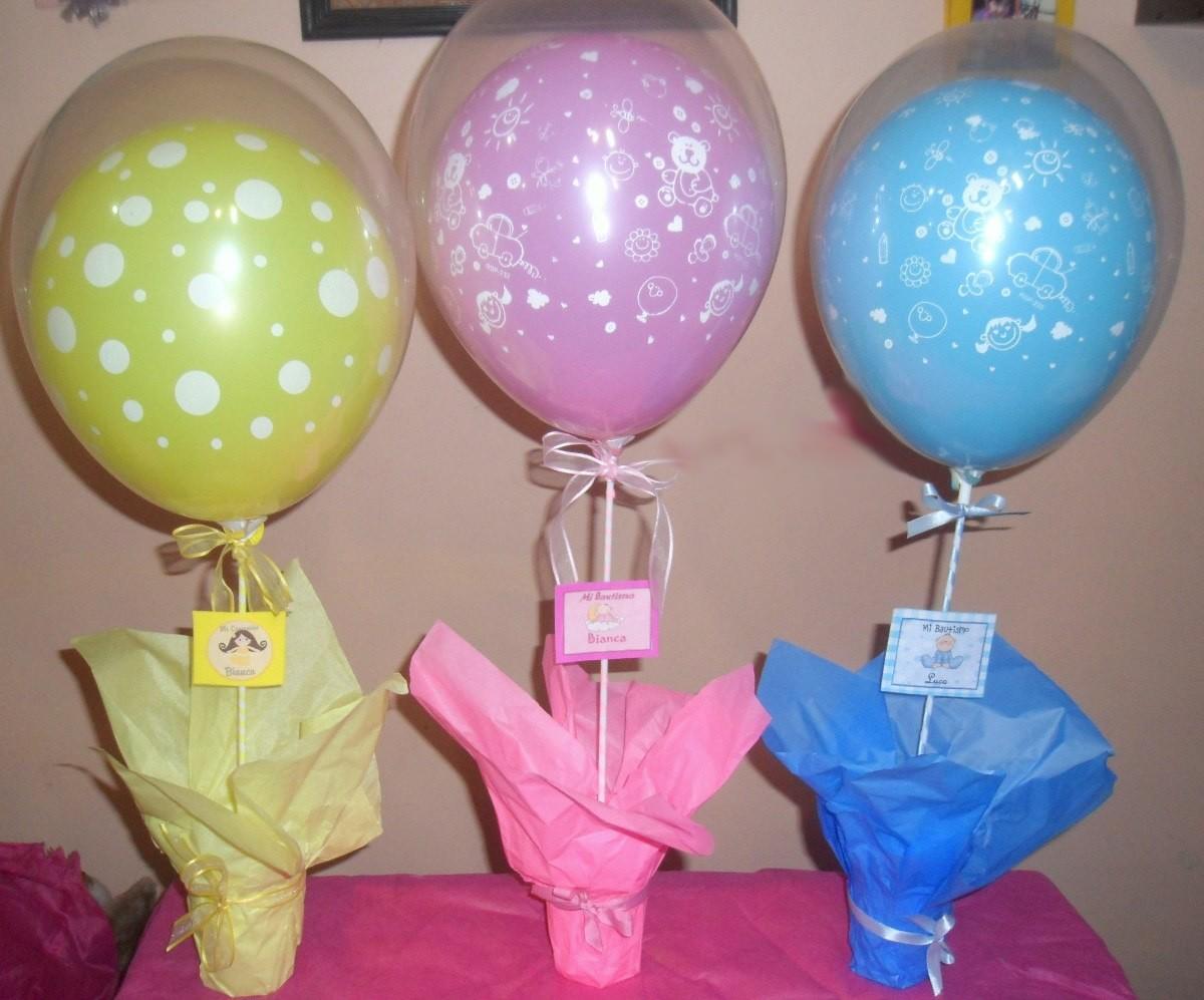 Mi fiesta creativa centros de mesa con globos para un for Centros de mesa faciles de hacer