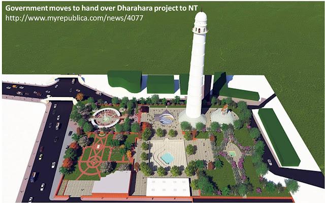 写真2 ネパール側で進められているランドマーク・タワー周辺の開発計画図。