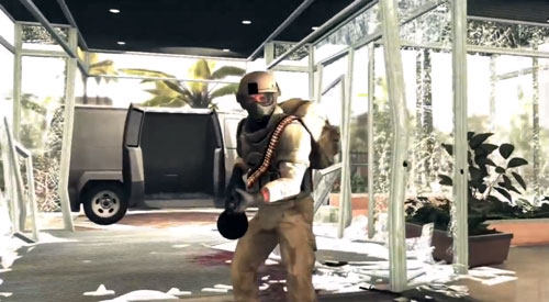 Aspecto de uno de estos cabroncetes equipados con blindaje antibalas y ametralladora ligera, mortíferos. Concretamente el del capítulo 6.